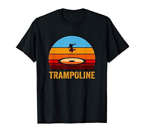 Retro Vintage Style Sunset Trampoline T-Shirt