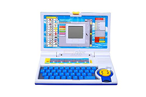 kidsROAR 20 Activities and Games Fun Laptop Notebook Computer Toy for Kids-Blue