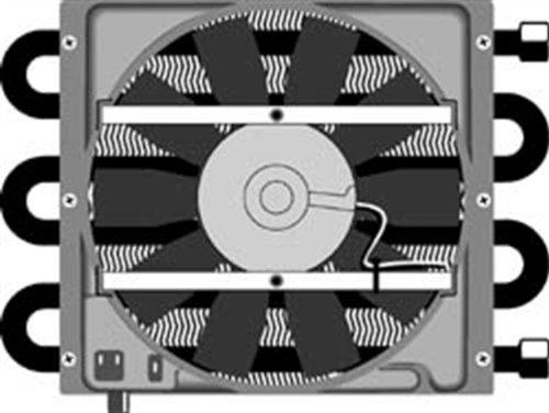 Flex-a-lite 45951 6-Pass Shrouded Heavy Duty Remote Oil Cooler - 26,000 GVW