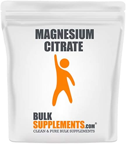 BulkSupplements.com Magnesium Citrate - Magnesium Powder - (1 Kilogram - 2.2 lbs - 300 Servings)