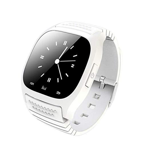 DBSUFV Reloj Inteligente de muñeca M26, podómetro Resistente al Agua, Reloj Inteligente, Respuesta de Llamada, Reproductor de música, cámara remota para teléfono Android