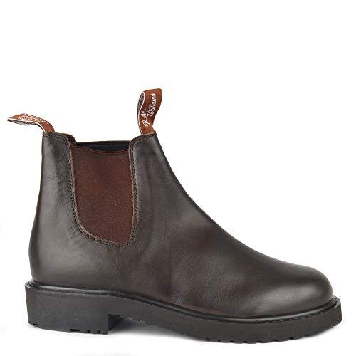 R.M. Williams Men's Stockyard Botas Chelsea, Botas de Cuero marrón, Botas de Hombre 42 Marron