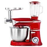 Robot da cucina multifunzione 1900W 6.5 litri con led Rosso