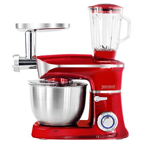 1900 W keukenmachine staande mixer Ice Crusher vleesmolen deegkneder rood 6,5 L