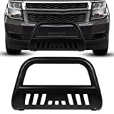 Front 3'' Bull Bar Bumper Guard Compatible with 1999-2006 Chevy Silverado Sierra Yukon Tahoe 1500 Brush Push Grille
