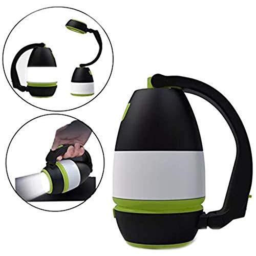 Lanterne De Camping Portable Extérieure Étanche Lanterne De Camping LED Lumière Lampe De Table De Charge USB Multifonctionnelle,Black Green