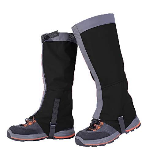 ZYW Leggings da Esterno Impermeabili Antipioggia Traspiranti a Freddo Leggings da Sci Escursionismo Copriscarpe Copriscarpe Resistenti alla Sabbia per Adulti E Bambini Unisex L/Nero