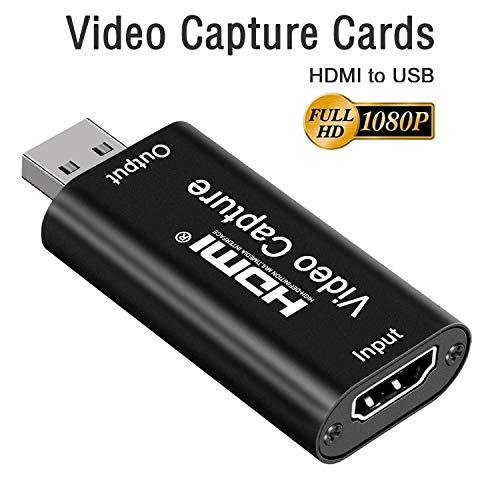 DIGITNOW! HDMI Video Capture Card Videoaufnahmekarte HDMI zu USB 2.0 1080P Game Capture Card Für Live-Übertragungen, Broadcast Live Streaming,Konferenzräume, Videoaufnahmen