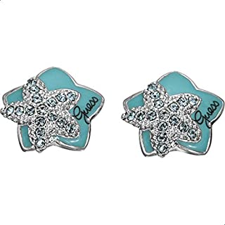 Guess Alloy Earring for Women, Turquoise, UBE41201