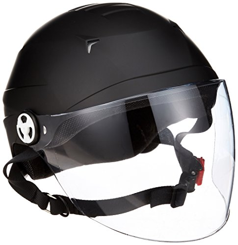 Lead RE41 LL Industrial Motorcycle Helmet, with Half Shield, Matte Black (Head Circumference less than 24.1-24.4 inches (61-62cm))