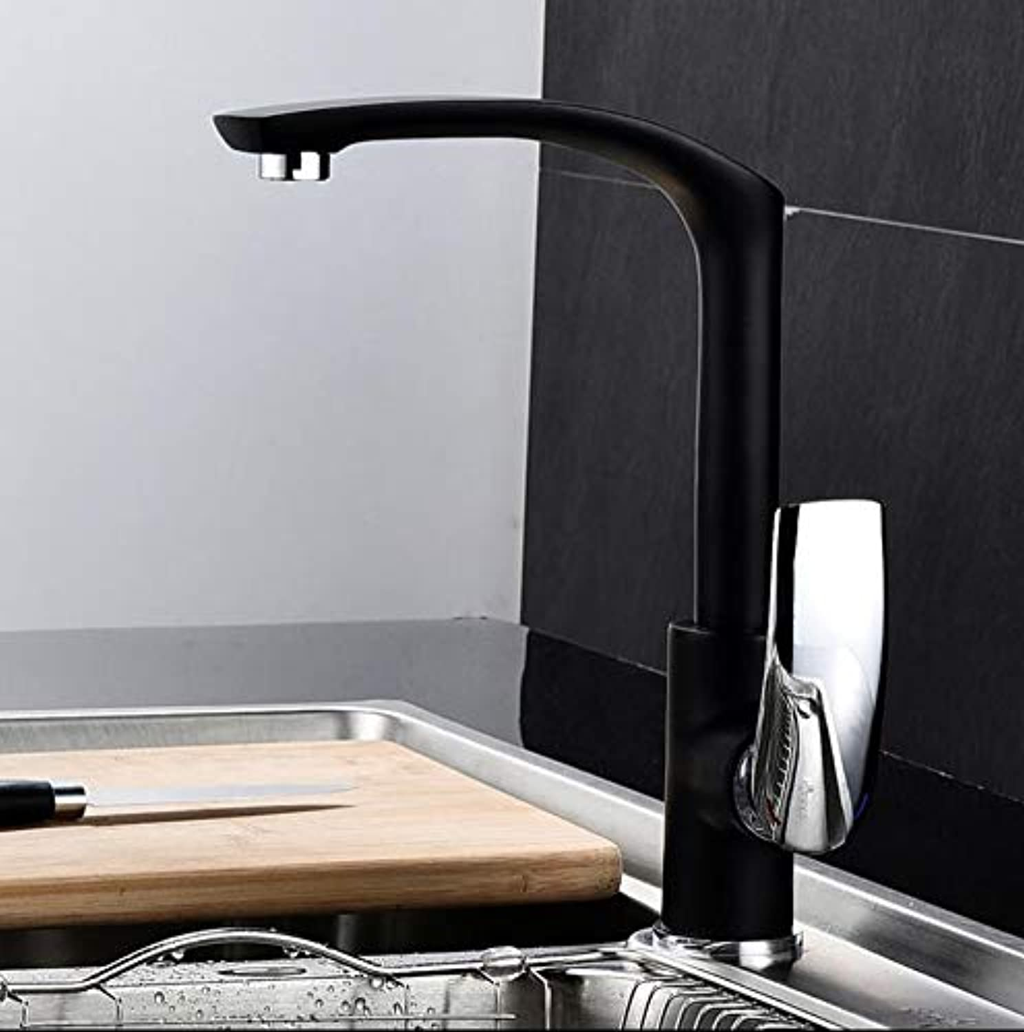 Hot & Cold Kitchen Faucet Europe Style Total Brass Kitchen Mixer Tap,Swivel Sink Tap