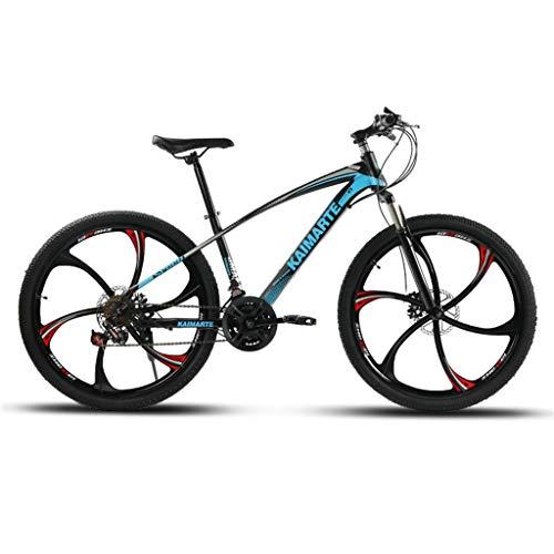 Hörsein 21 24 27 Velocidad Pulgadas Bicicleta de Velocidad Variable Marco de Acero de Carbono de absorción de Choque Velocidad Super luz flexión Carreras de Bicicletas Estudiante,C,24 Inch 21 Speed