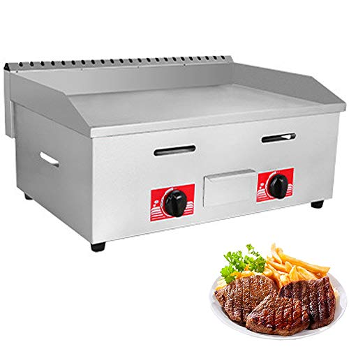 """LKZAIY 29"""" Stainless Steel Griddle Commercial Liquefied Petroleum Gas Countertop Griddle Table top Flat Iron Grill Pancake Griddle Restaurant Equipment for Barbecue Teppanyaki-60000 BTU Griddles"""