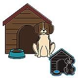 ECMQS Troqueles de diseño de caseta de perro, para scrapbooking, para álbumes de recortes, papel fotográfico, tarjetas, manualidades