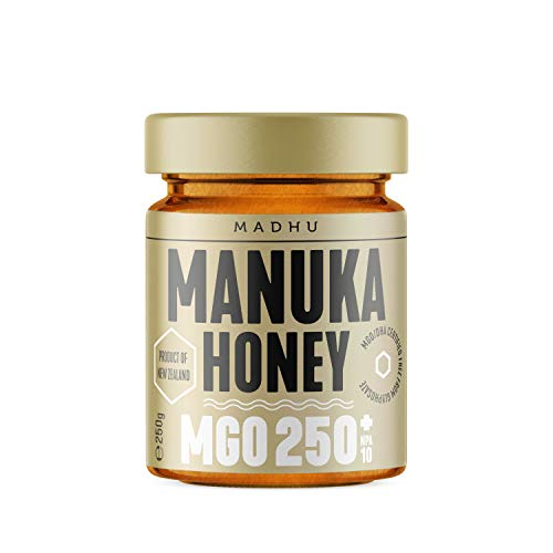 Manuka Honig 250 MGO im hochwertigen Glas - Direkt vom Imker aus Neuseeland - zertifizierter Methylglyoxal-Gehalt (250g)