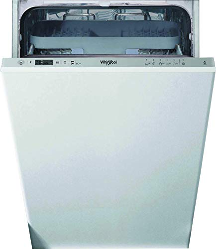 Whirlpool WSIC3M27CN Integrated Slimline Dishwasher, Stainless Steel, Quick Wash, 10 place settings, Silver