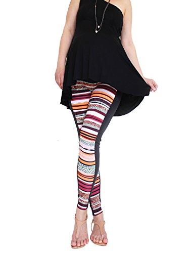 Mia maternity - Leggings spécial grossesse - Femme orange stripes XL