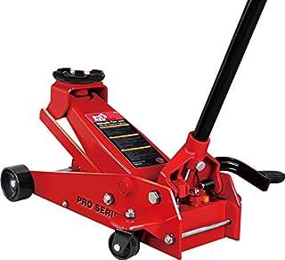 Big Red TAM83012 Torin Pro Series Hydraulischer Wagenheber mit Single Quick Lift Kolbenpumpe und Fußpedal, 3,5 Tonnen (3,2 kg) Kapazität, rot