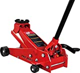BIG RED TAM83012 Torin Pro Series Hydraulic Floor Jack with Single Quick Lift Piston Pump and Foot Pedal, 3.5 Ton (7,000 lb) Capacity, Red