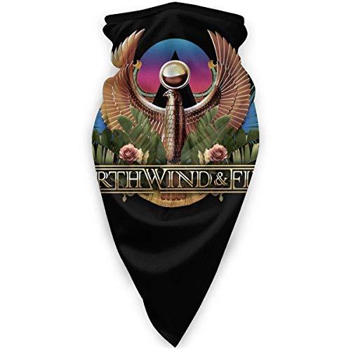 maichengxuan Erde Wind & Feuer Gesichtsschutz Winddicht SportMultifunktionsbandana Kopfbedeckung TubeOutdoor Sturmhaube Schwarz