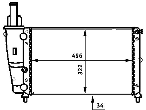 Mahle CRB 136 000S Coolant Cooler