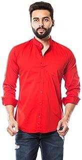 moudlin Men's Solid Casual Mandarin Shirt by Maruti Online