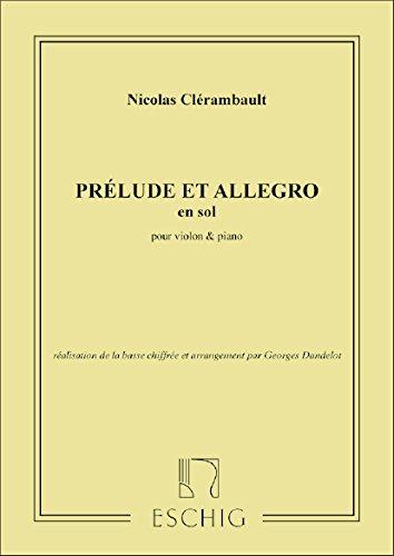 Prélude et allegro --- Violon/Piano