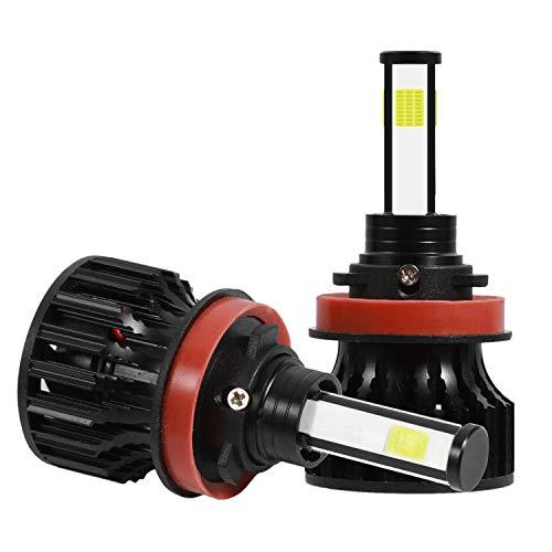 Domilay 2 Piezas H8 / H9 / H11 PatróN de IluminacióN de 360 Grados (4 Lados) Kit de Bombillas de Faros LED 2000W 300000LM 6000K Blanco