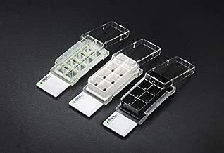 SPL Cell Culture Chamber Slide, Clear, 8 Wells, PS Frame, Glass Slide, PP Holder, 0.2~0.6 ml, Sterile, Case of 12 // 2 Pack of 6