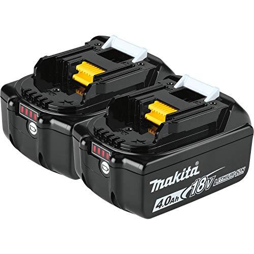 Makita BL1840B-2 18V LXT Lithium-Ion 4.0Ah Battery Twin Pack, Black