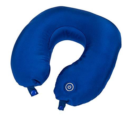 Haus und Deko Nackenkissen mit Massagefunktion batteriebetrieben elektrisches Nackenhörnchen mit Microperlen Massage-Kissen Blau
