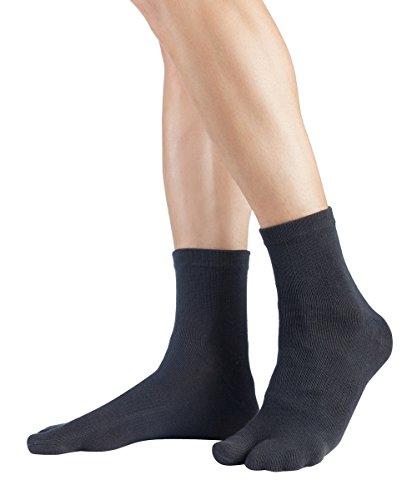 Knitido Traditionals Tabi Ankle | Calcetines japoneses tabi en algodón, cortos, Talla:35-38, Colores:Charcoal (816)