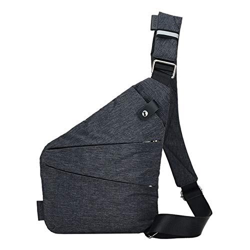 Tuzi Qiuge Schultertasche, Multifunktions Tragbare Anti-Diebstahl-Polyester Business-Kasten-Beutel-im Freiensport-Umhängetasche QiuGe (Color : Grey)