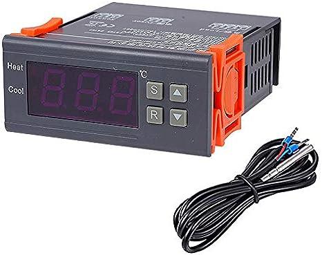 Regulador de Temperatura 10A 12V Termocupla Termorregulador Digital Sensor para Congelador Refrigerador Sistemas de Temperatura Controlada -40~120 °C