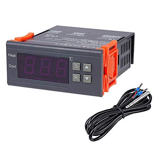 Digitaler Temperaturregler Thermostat Regler DC 12V 10A mit Doppel NTC Sensor Sonde Kühler Heizung für Gefrierschrank Kühlschrank gesteuerte Temperatursysteme -40~120°C