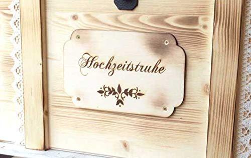 Erinnerungskiste Vintage aus Holz mit Wunschmotiv – Hochzeitsgeschenk personalisiert – Erinnerungskiste mit Gravur – Hochzeitskiste – Hochzeitstruhe - 5