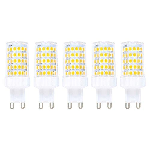 Preisvergleich Produktbild G9 LED Lampe 10W Warmweiß G9 LED Leuchtmittel Dimmbar Ersatz für 80W G9 Halogenlampen, 800Lumen, 3000K, 220V AC, 360 Grad Winkel, CRI> 82, G9 LED Glühlampe, 5er Pack
