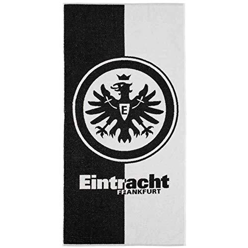Eintracht Frankfurt schwarz weiß Handtuch Duschtuch Badetuch (Handtuch 50x100cm, schwarz/weiß)