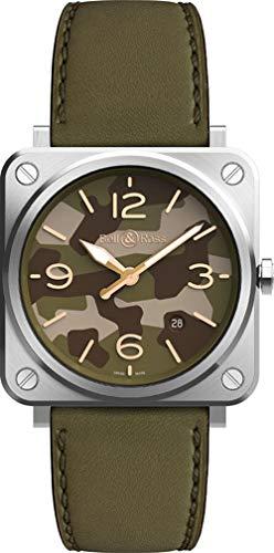 Bell & Ross Instruments Green Camo Men's Watch BRS-CK-ST/SCA