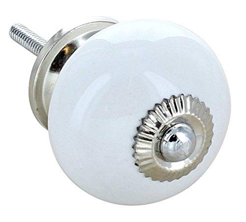 G Decor En céramique blanc-style Shabby Chic Bouton de porte de placard tiroir 4501–Poignée de tirage Nous