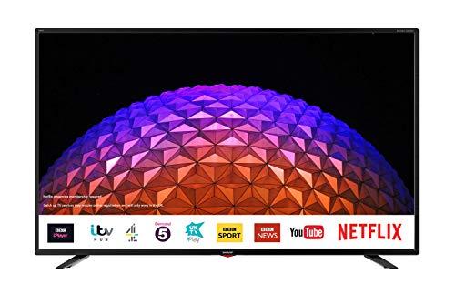 Sharp 4T-C40BJ3KF2FB 40-Inch 4K UHD HDR Smart TV with Freeview Play, 3 x HDMI, 2 x USB 2.0, USB 3.0,...