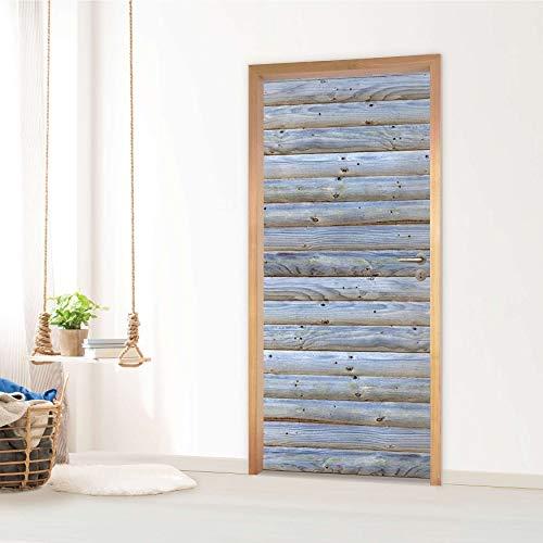 creatisto Tür Sticker I Dekoration Türsticker Aufkleber - Möbelfolie selbstklebend I Dekor Schlafzimmer - Design: Greyho&