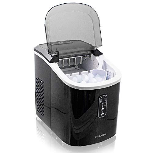 Eiswürfelmaschine Edelstahl Eiswürfelbereiter Eiswürfel Ice Maker Eis Maschine Icemaker (Schwarz)