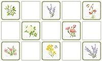 【 Dream Sticker 】アルミニウムキッチンシート 台所 レンジまわりの簡単リフォーム DIY 壁紙デコレーション ALC (ボタニックガーデン, 4枚セット)