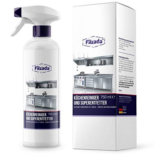Filzada ® Küchenreiniger/Entfetter - Hochwertiger Fettlöser - Entfernt Fett/Öl Streifenfrei und Materialschonend