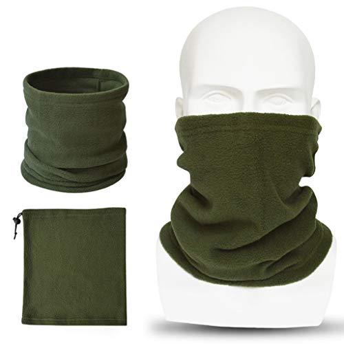 YoungerY (1PC Cuello de la máscara del Montar a Caballo del Sombrero de múltiples Funciones del Babero de la Bufanda de - Verde Militar