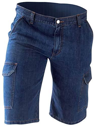 Jeans shorts heren blauw maat56