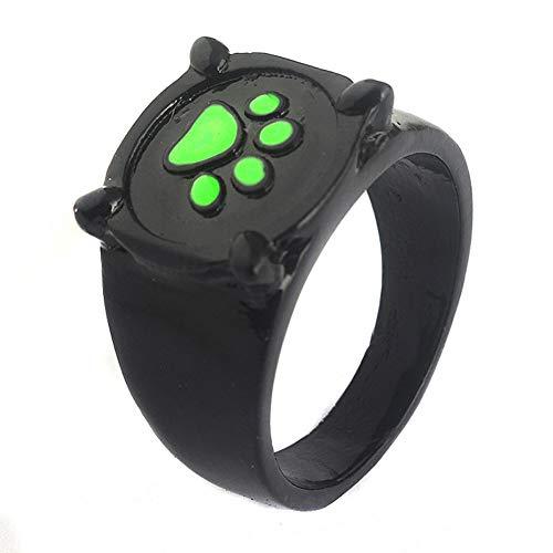 Moniku Moana Cat Noir Collar Cat Noir Anillo Niñas Colgante Accesorios - Dorado - talla única