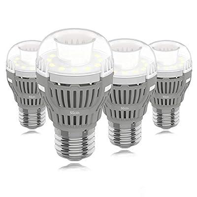 SGLEDS Enclosed Fixture Rated Bulbs, 8W (60W Equivalent LED Bulb), Bright White 5000K Daylight LED Light Bulbs, 800lm, E26 Medium Base, A15 Lamp, 4Pack