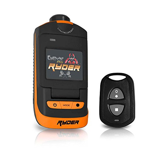 """Ryder Sports HD Action Camera - 1080P Mini Camcorder 16 MP Anti Shaking Cam 1.5"""" Screen USB SD Card HDMI Battery - Waterproof Case USB Cable Remote Handlebar Helmet Mount - GearPro GDV785OR (Orange)"""
